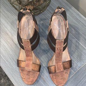 Donald J. Pliner Shoes - Donald J Pliner High Heel Wedges/Sandals Size 8.5